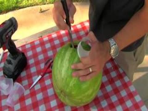 شاهد بالفيديو اسرع طريقه لعمل عصير البطيخ