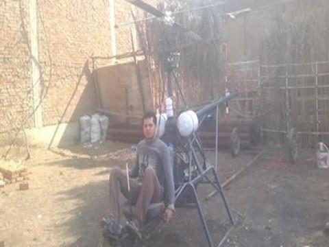 بالفيديو.. شاب مصري يختره طائره هليكوبتر بدون طيار