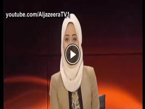 شاهد مذيعة الجزيرة تنفجر من الضحك فى تقرير يسخر من السيسي