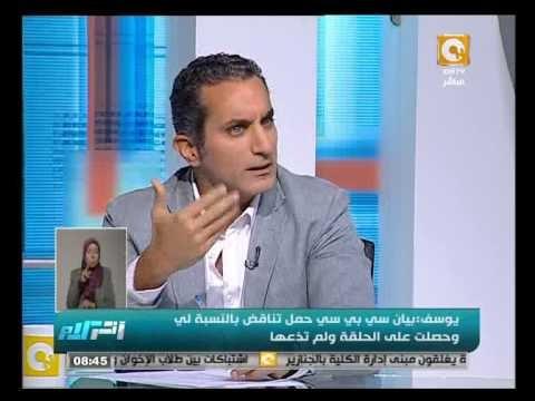 شاهد باسم يوسف في أول حوار بعد توقف البرنامج