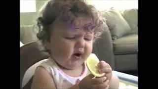 فيديو ردود افعال اطفال يتذوقون الليمون